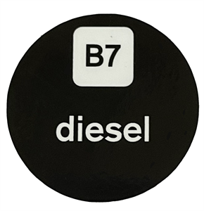 """Self-Adhesive Stickers for ZVA Nozzle Badge - """"Diesel"""""""