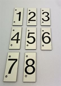 Tank Numbers - Type F (Number 1-9)