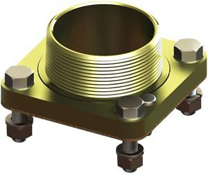 RIS-FLANGE2-35-M (2in BSPT Male Flange + 35mm Bolts + Nuts)