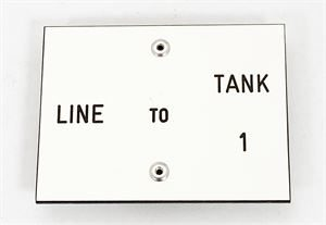 Line to Tank Labels