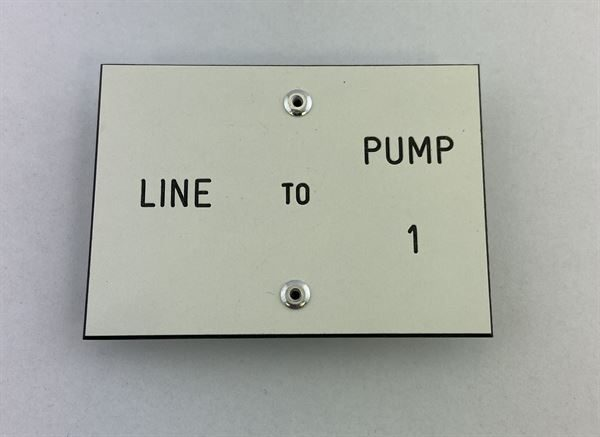 """Line to Pump Labels with 2"""" Clips (Choose your Pump #'s)"""